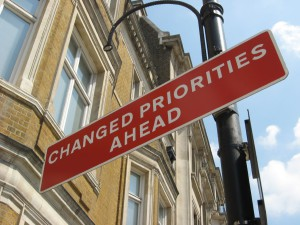 Changed Priorities Ahead, by RedVers on flickr