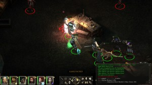 A screenshot of combat in Pillars