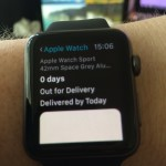 Deliveries app informs you when stuff's likely to arrive. The white blob will be a map when it renders.