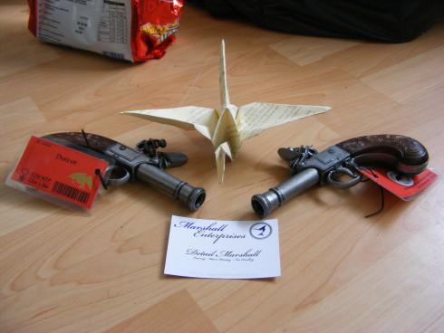 Detail's guns & business card