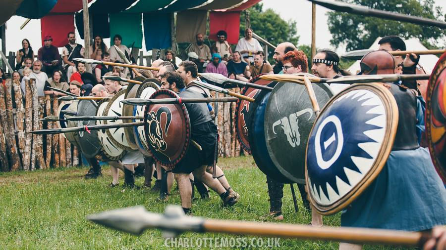 A Greek Sheild Wall, at Odyssey. Photo by Charlotte Moss for Profound Decisions