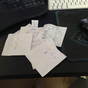 A carefully spoiler-avoidant pile of notes