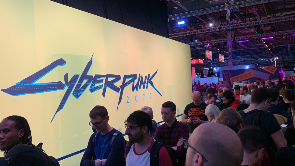 Queues at the Cyberpunk booth