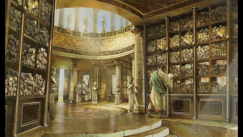 An impression of the Great Library of Alexandria